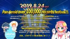 Pan deroid faucet 10万回 達成記念コラボイベント開催決定!