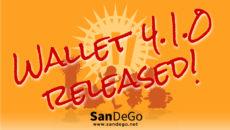 SanDeGo 最新版ウォレット 4.1.0 をリリース